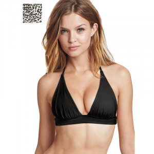 VS The Plunge Halter Bikini Top Svart