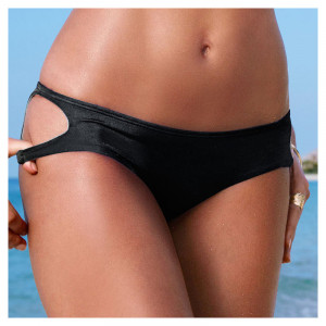 VS Cross Over Lowrise Bikini Bottom Black