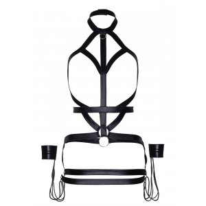 LA KINK Bondage body harness dress
